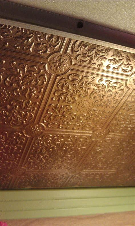 ceilingbacksplash ideawallpaper painted metallic