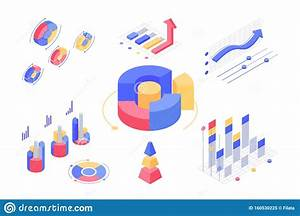 Isometric 3d Charts And Statistics With Set Diagrams And
