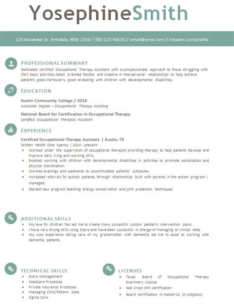 Occupational Therapy Resume by Occupational Therapy Resume Template Tips To