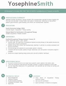 Occupational Therapy Sample Resumes Occupational Therapy Resume Template Download Tips To
