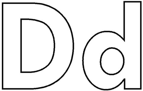 Letter D Clipart Black And White