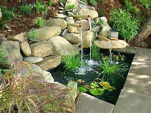 Water features for any budget diy for Backyard water fountains