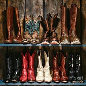 Boot Rack Photograph by Olivier Le Queinec