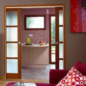 Porte Intérieur Double Vantaux : portes d 39 int rieur coulissantes pasquet menuiseries ~ Melissatoandfro.com Idées de Décoration