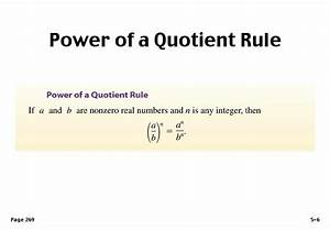 Quotient Rule Examples