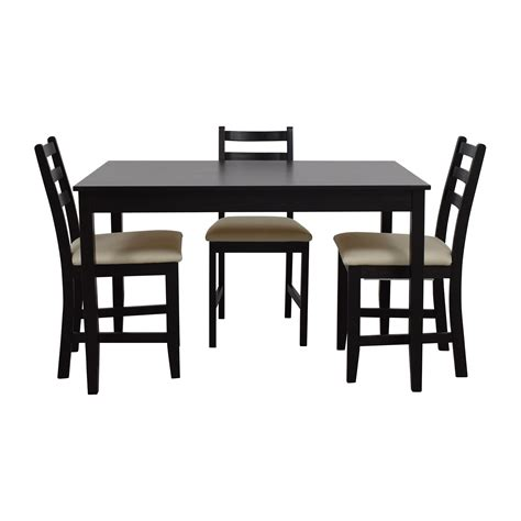 ikea ikea wood dining set   chairs tables
