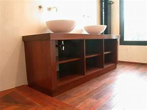 Mobilier Salle De Bain : mobilier salles de bain menuiserie chomette ~ Teatrodelosmanantiales.com Idées de Décoration