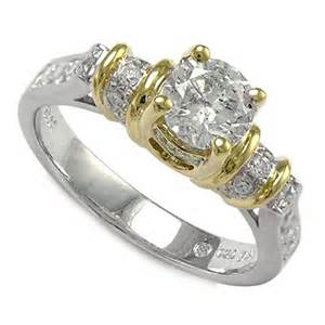 two tone engagement rings anzor jewelry 18k two tone gold solitaire engagement ring