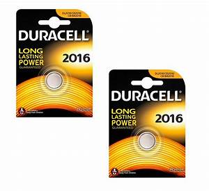 Duracell CR2016 Lithium Battery 3v Button Coin Cell ...