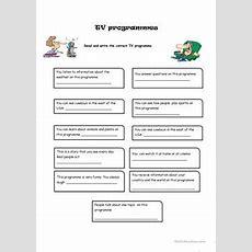 17 Free Esl Tv Programmes Worksheets