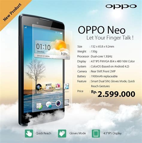 oppo neo is official 4 5 inch mid range android smartphone noypigeeks