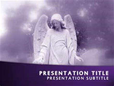 royalty  angel powerpoint template  purple