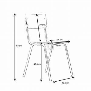 Dimension Chaise Standard : chaise vintage type colier back to school zuiver ~ Melissatoandfro.com Idées de Décoration