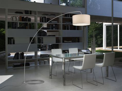 stylish forms   modern arc floor lamp