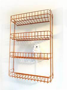 Etagere Industrielle Murale : petite etagere industrielle murale orange brocnshop ~ Preciouscoupons.com Idées de Décoration