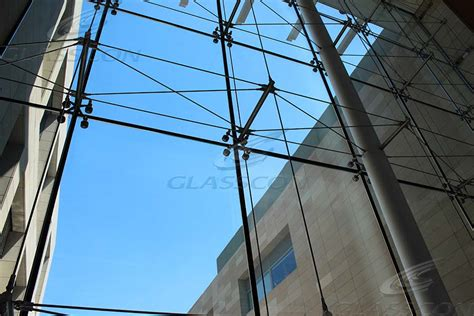 glasscon spider glass curtain wall with prestressed