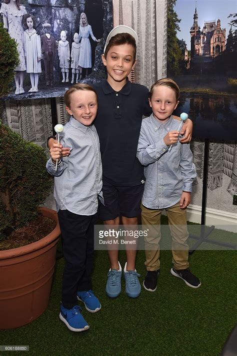 tom odwell cameron king and joseph odwell attend a uk fan screening of miss peregine s home