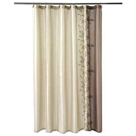 kohls shower curtain kohl s chapel hill landon leaf chagne brown embroidered