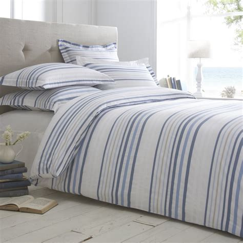 Blue Striped Duvet Cover  Home Furniture Design