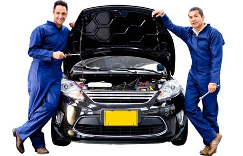 Car In Service by Car Repair Service Center Station Mechanic Shop Garage