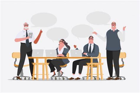 bureau de change fr illustration de dessin de personnage de dessin animé