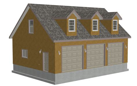 pole barn apartment floor g532 30 x 40 x 10 rendering sds plans