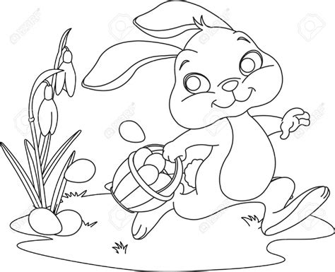 cartoon easter bunny coloring pages  kids