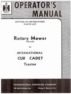 Cub Cadet 38 Inch 38 U0026quot  Rotary Mower Deck Owners And Parts