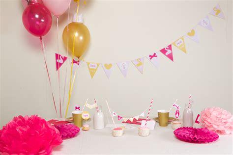deco anniversaire 1 an fille d 233 coration anniversaire 1 an fille kit theme cygne achat vente