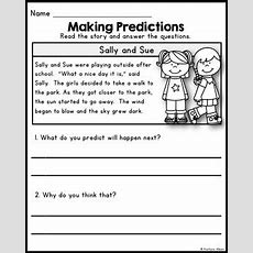 Reading Comprehension  Making Predictions Passages By Kaitlynn Albani