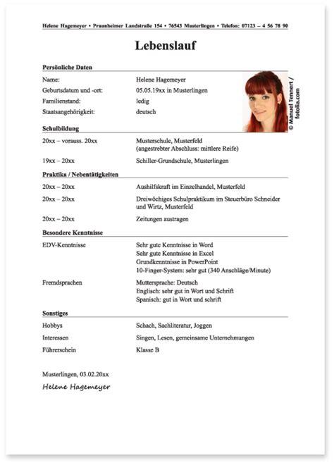 Muster Lebenslauf Ausbildung by Der Lebenslauf Verwaltungsfachangestellter