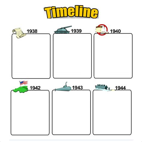 Timeline Template For Story by 6 Timeline Templates For Students Doc Pdf Free