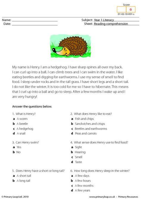reading comprehension i am a hedgehog primaryleap co uk