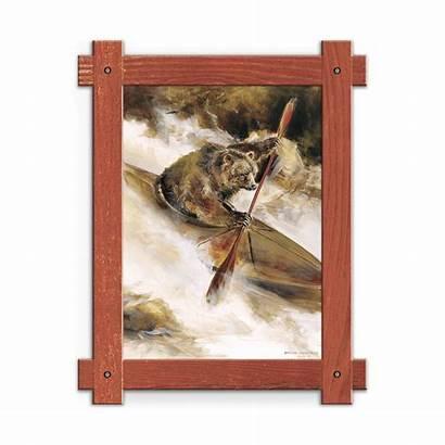 Bear Kayak Framed Wood Oldwoodsigns Rustic Distressed