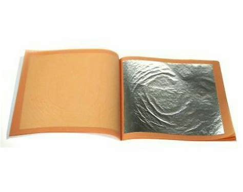 24ct edible silver leaf 10 sheets for cakes etc ebay
