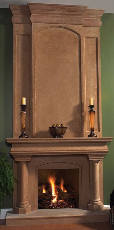 trevi fireplace stone mantel vertical dimensioncom