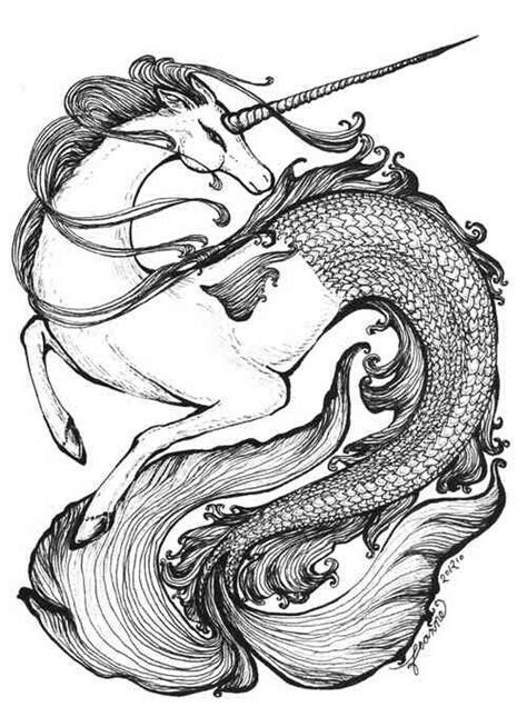 Unicorn mermaid! Might make a cool tattoo in 2019 | Unicorn tattoos, Unicorn drawing, Unicorn art