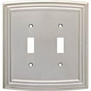 Hampton, Bay, Emery, Decorative, Double, Light, Switch, Cover, Satin, Nickel-w36399-sne-u