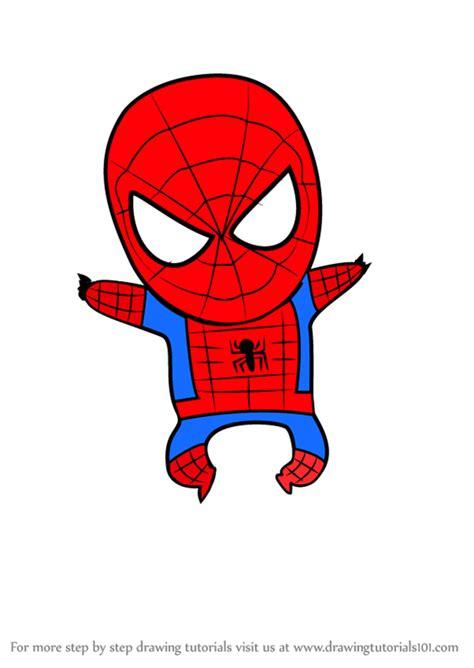 learn   draw chibi spiderman chibi characters step