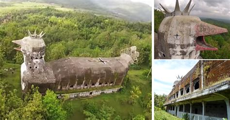 abandoned church  indonesian jungle    massive