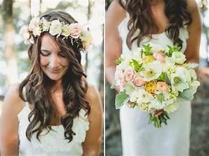 Bridal Wreaths Hair Bridal Bouquet And Bohemian Hair