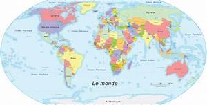 Carte Du Monde Noir : les etats du monde ~ Teatrodelosmanantiales.com Idées de Décoration