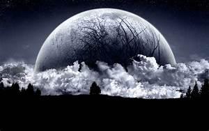 Dark, Moon, Wallpapers