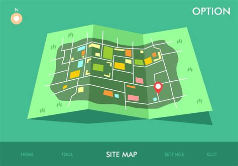 Site Map Game Option Free Vector  Download Free Vector