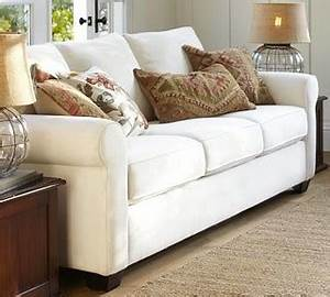 buchanan upholstered sofa polyester wrap cushions With buchanan couch pottery barn