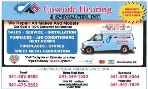 cascade heating specialties heating  cooling hvac