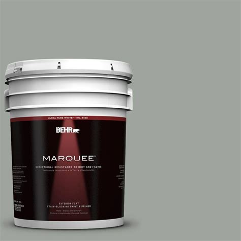 behr marquee 5 gal t15 6 dreamscape gray flat exterior paint 445005 the home depot