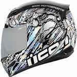 Mechanica Helmet Racing Riding Motorcycle Silver Airmada