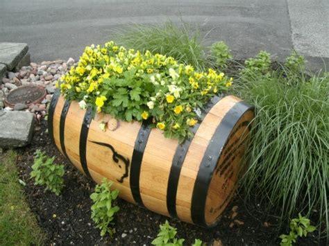 15 Impressive Diy Wine Barrel Planters That You Can Make