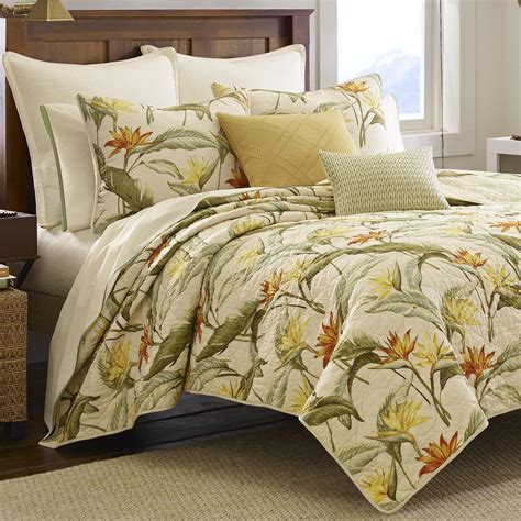 tommy bahama birds  paradise tropical quilt bedding